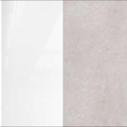 biały połysk / beton srebrny