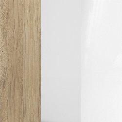 dąb san remo laminat/biały laminat + dąb sanremo + biały połysk