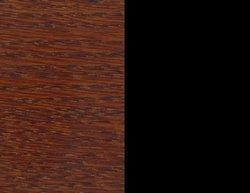 Orzech włoski/czarny lakier